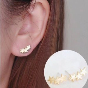 MINIMALIST SILVER or GOLD STAR CLIMBER STUDS